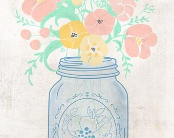 Mason Jar (Art Prints available in multiple sizes)