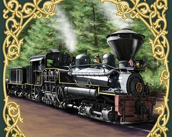 Colordao - Railroad Locomotive (Art Prints available in multiple sizes)
