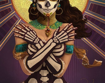 San Francisco, California - Day of the Dead - Crossbones (Art Prints available in multiple sizes)