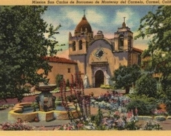 Mission San Carlos de Borromeo de Monterey (Art Prints available in multiple sizes)