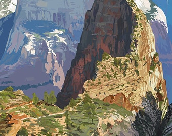 Zion National Park - Angels Landing (Art Prints available in multiple sizes)