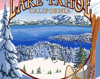 Lake Tahoe, CA Winter Views (Art Prints available in multiple sizes)