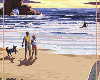 Oregon Coast Scene at Sunset (Art Prints available in multiple sizes)