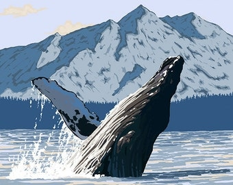 Prince Rupert, BC Canada - Humpback Whale (Art Prints available in multiple sizes)