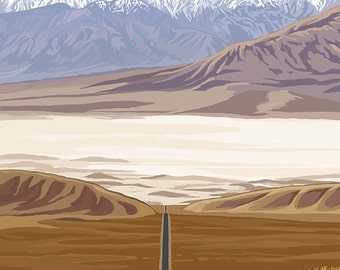 Highway View - Death Valley National Park (Art Prints available in multiple sizes)