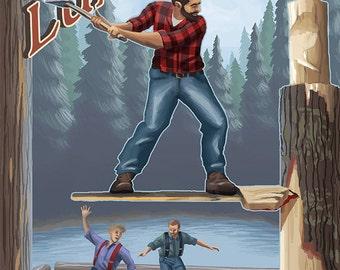 Alaskan Lumberjacks (Art Prints available in multiple sizes)