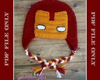 Crochet IronMan Pattern---PDF FILE ONLY