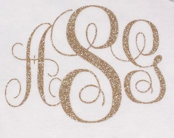 Monogrammed Iron On Letters, Glitter Iron on Letters, Glitter Iron On Monogram