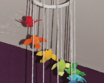 Unique Rainbow Birdy Bird Mobile