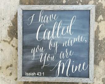 Isaiah 43:1 sign