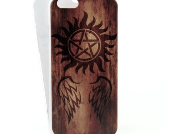 Supernatural inspired case for iPhone 6/6s and 6/6s Plus - Angels and Demons - minimalist low profile printed case