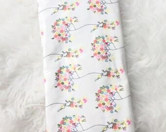 Flower swaddle blanket/infant swaddle blanket/baby girl swaddle blanket