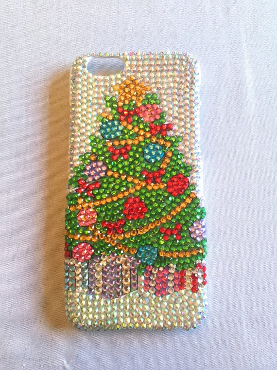 Rhinestone Christmas Tree Phone Case