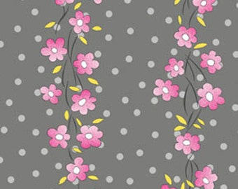 Half Yard Daisy Mae - Serenade in Graphite Gray - Cotton Quilt Fabric - by E. Vive for Benartex Fabrics 1334-11 (W2835)