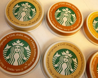 Lot of 10 Starbucks frappuccino coffee Mermaid drink caps for recycle art