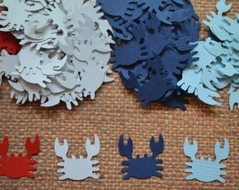 "Crab Punches, Crab Cut Outs, Scrapbooking, Embellishments (3/4"") 