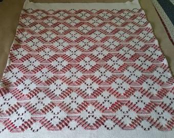 Swedish Weaving Lap Throw / Weaved Baby Blanket Handmade