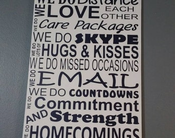 In This House We Do Deployments Navy Family Hand Painted Subway Style Distressed Wood Sign NO vinyl Deployment sign Home Decor Wall Art