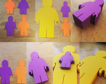 Lego People Cut Outs (Various Sizes and Colors Available)
