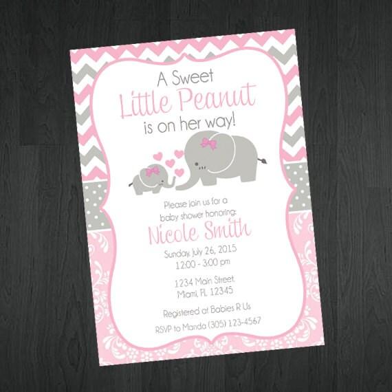 baby shower invitation baby elephant themed baby shower invitation