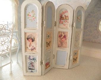 Miniature Dollhouse Room Divider Screen 1 12 Scale