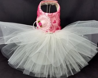 Tea Party! Dog Harness Dress. XXSmall to XXLarge Dog Dresses, Dog Harness Dress, Wedding Dog Dress Tutu Dress