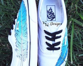 Ombre Feather Vans