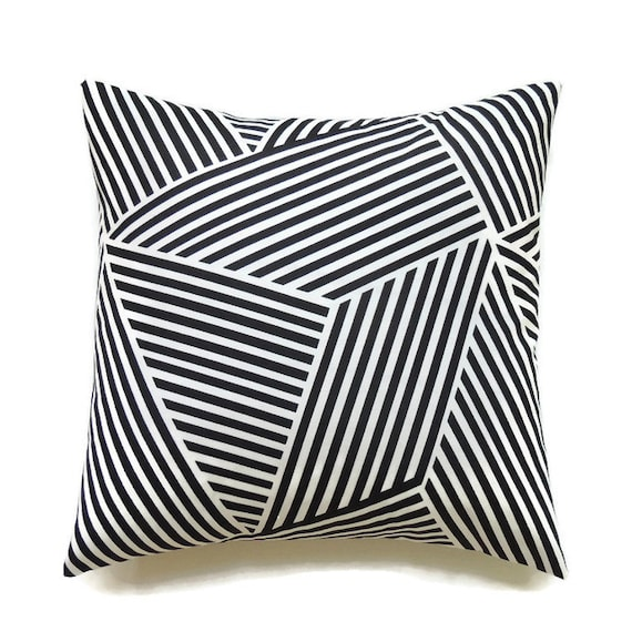 Black Pillow 24x24 Pillow Cover Decorative by ThePillowToss