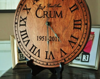 Personalized Custom Wooden Clock