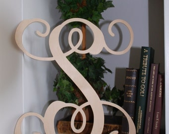 "Monogram Wooden Initials - Wooden Letters Wall Decor Wall Hangings - 26"" Tall - Nursery Letters - Decorative Wood letters"