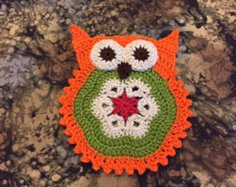 Owl Coaster Pattern/not a finished product - no refund