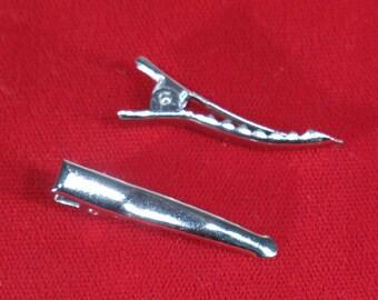 "BULK! 20pc ""silver prong barrettes"" hair clips (JC81)"