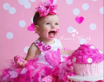 Boutique birthday cake smash tutu set your size and colors 1st birthday