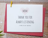 Cute Mother's Day card. I Love Mom Card. Best Mom In The World Card.