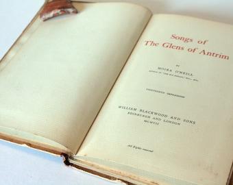 Song of the Glens of Antrim Vintage Hardback Scotland Highlands Scotish books poetry