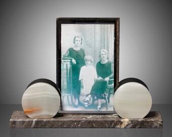 Vintage Art deco photoframe on marble base
