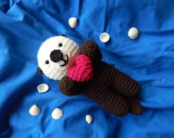 Amigurumi Crochet Pattern - Sea Otter  Pattern No.56