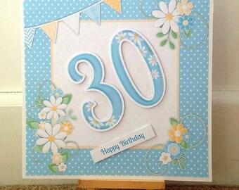 Daisy Birthday Card * Bunting Birthday Card * Birthday Bunting Card * Birthday Bunting * Handmade Card * Birthday Card * Card For Her *