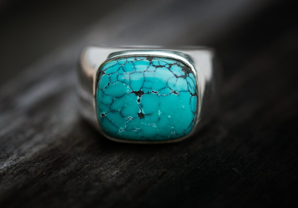 turquoise ring large turquoise ring size 10 mens turquoise