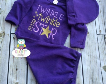Twinkle, Twinkle Little Star Shirt, Gown, or Bodysuit, New Baby Gift, Baby Shower Gift