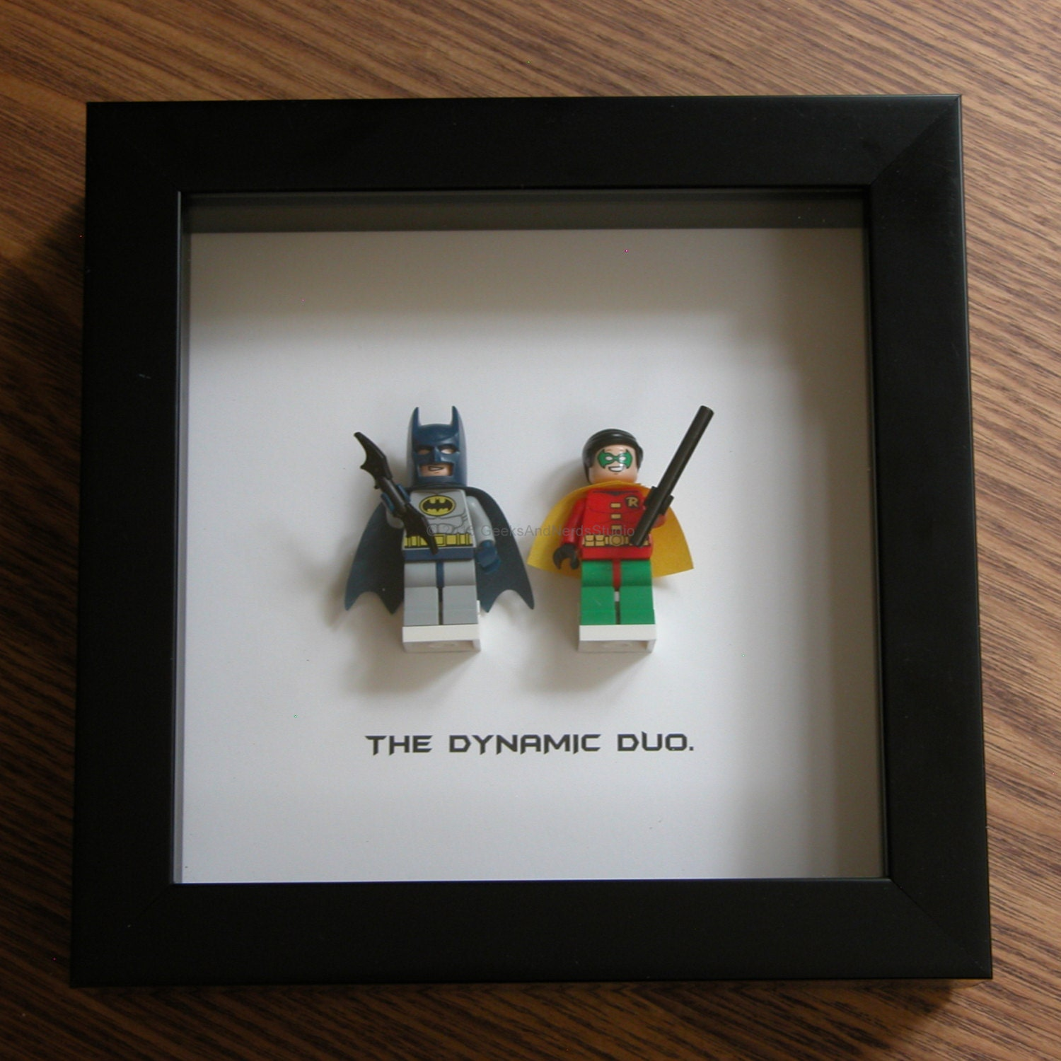 superhero wall art batman robin lego frame art wall. Black Bedroom Furniture Sets. Home Design Ideas