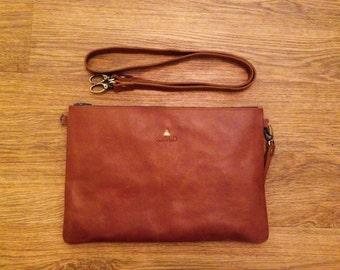 Handmade Sling Bag / Leather Bag / Clutch / Wristlet