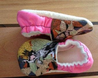 Where the wild things are,Let the wild rumpus start, Max and the wild things, baby girl shoes, baby shower gift