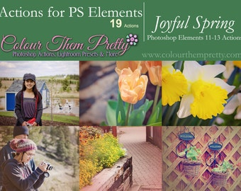 50% OFF! - Joyful Spring (Actions for Photoshop Elements)