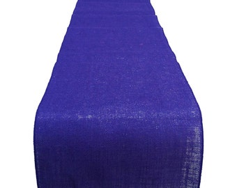 Color Burlap Table Runner