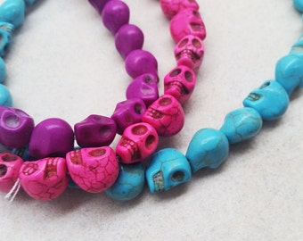 How-lite Skull Beads in 3 Different Colors