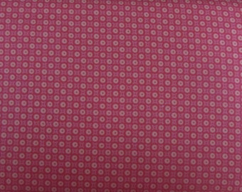 Per Yard, Friendly Forest Pink Dots Fabric From Spectrix