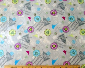 Per Yard, Birds Song Flowers/Cages Fabric From SPX