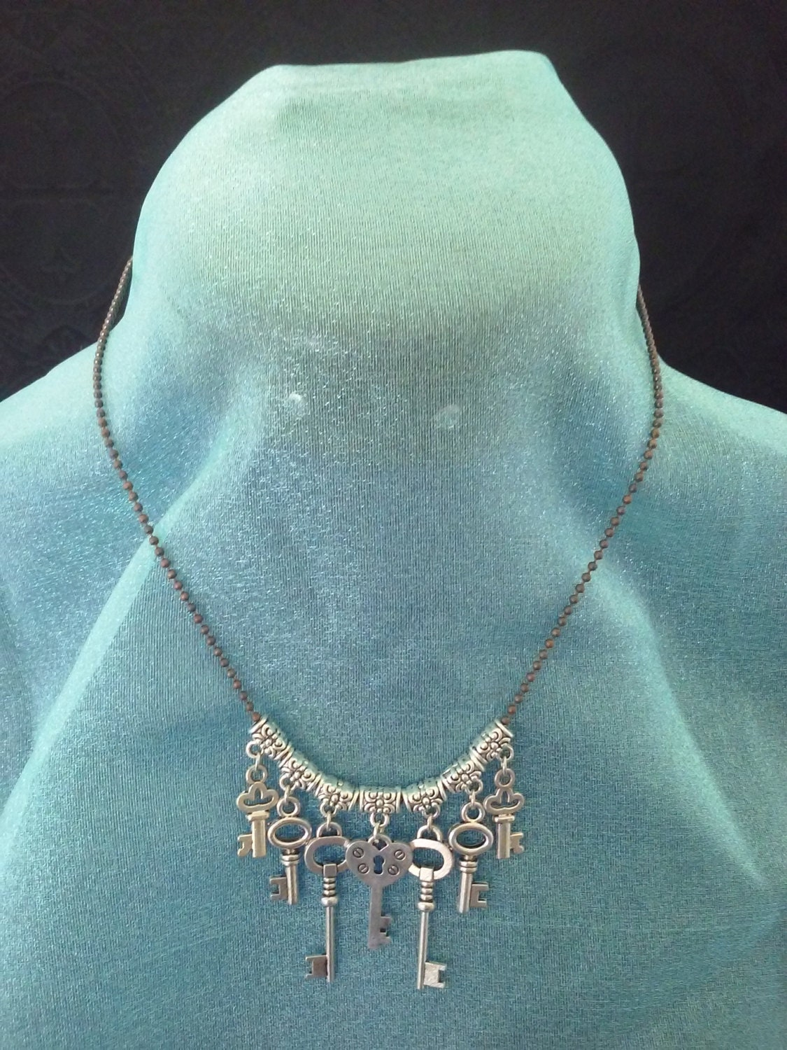 Keeper of the Seven Keys Helloween Music Inspired Necklace Goblin Krafts Jewelry Steampunk Fantasy Gothic Lolita