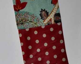 Linen, cotton pea and SUMMER flowers pouch